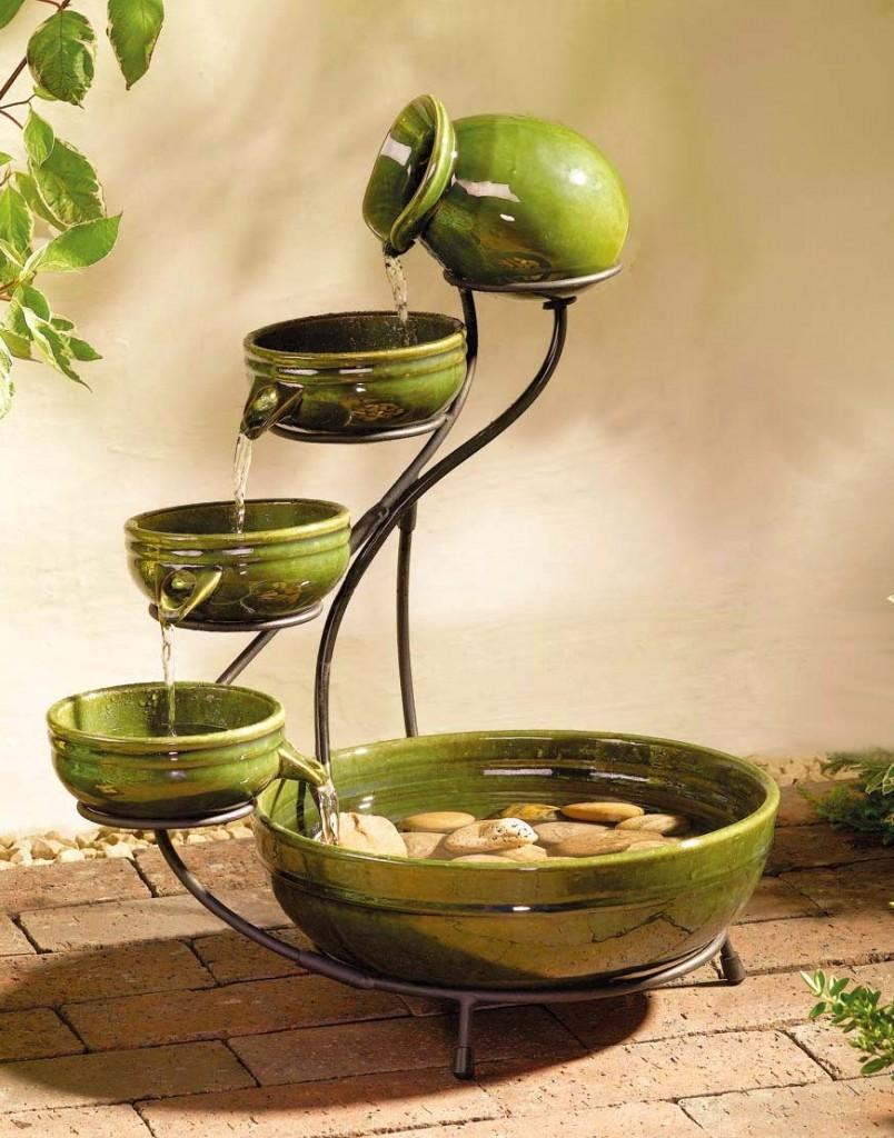 Fontaine décorative de table en céramique
