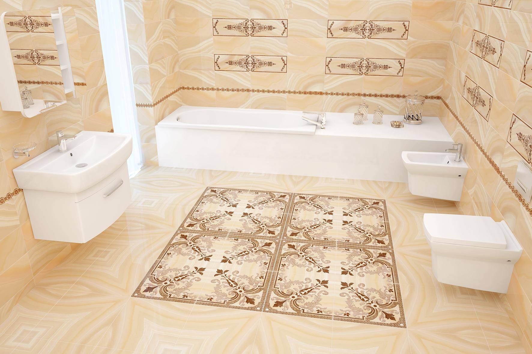 carreaux antidérapants dans la salle de bain