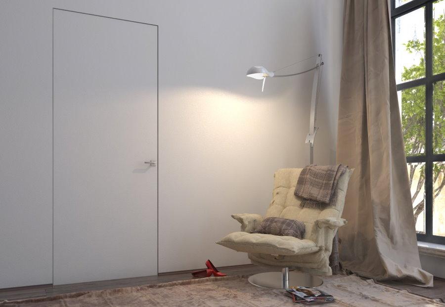 Porte invisible dans le salon
