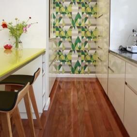 papier peint à l'intérieur de la cuisine