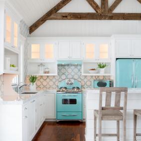 papier peint pour les idées d'intérieur de cuisine