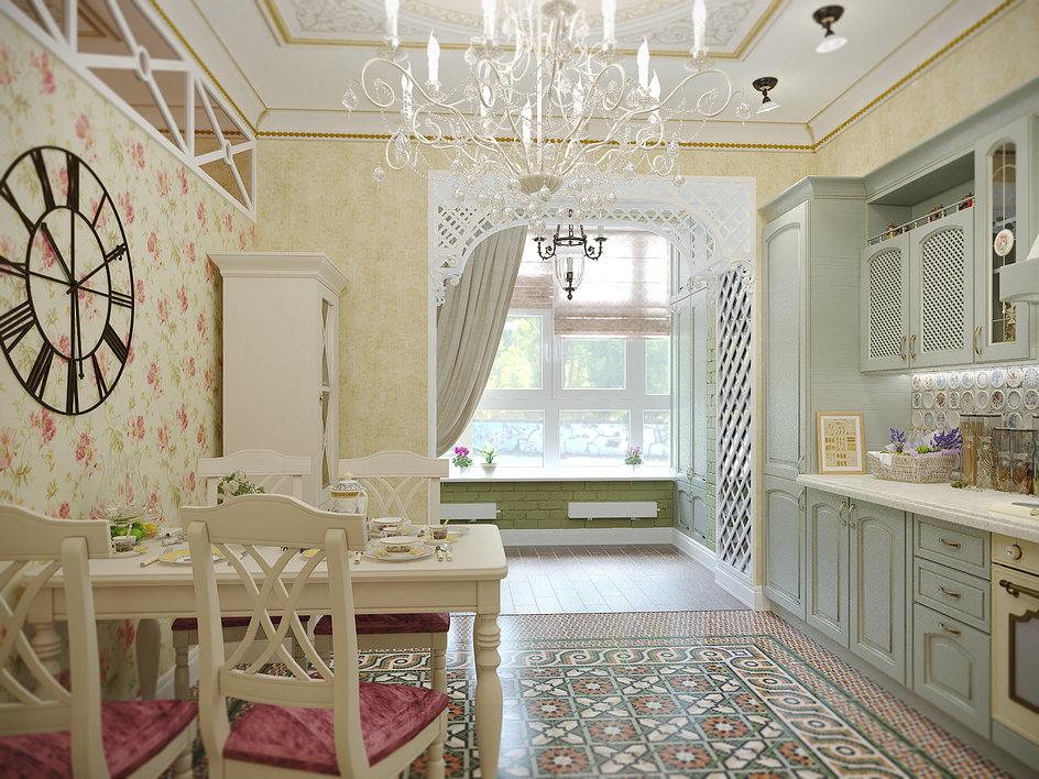 papier peint pour cuisine provence
