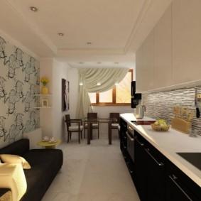 papier peint pour la cuisine dans l'appartement