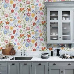 papier peint pour un petit décor photo de cuisine