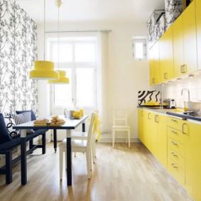 papier peint pour de petites idées de décoration de cuisine