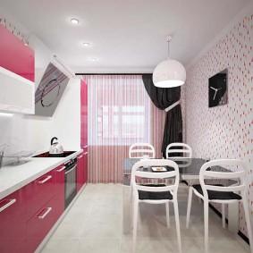 papier peint pour un petit intérieur de cuisine