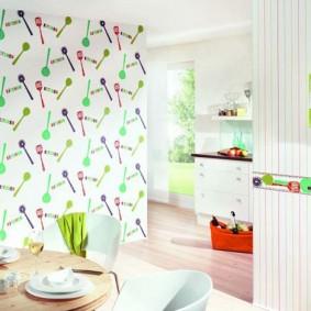 papier peint pour une petite cuisine idées d'intérieur