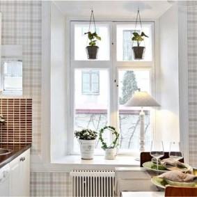 papier peint pour une petite décoration photo de cuisine