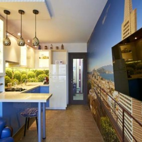 papier peint pour une petite cuisine des idées de décoration