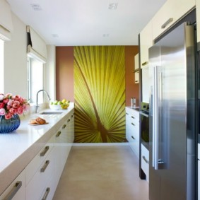 papier peint pour une petite idées de décoration de cuisine