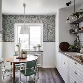 papier peint pour un petit design de cuisine