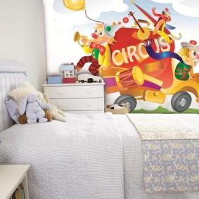 papier peint dans les idées de conception de chambre d'enfants