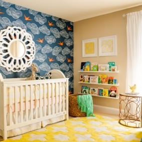 papier peint dans la photo de décoration de la chambre des enfants