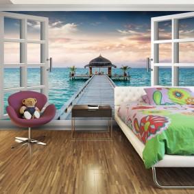 papier peint dans le décor photo de la chambre des enfants