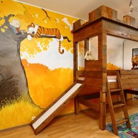 papier peint dans les idées de décoration de la chambre des enfants
