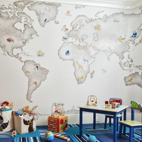 papier peint dans l'intérieur de la chambre des enfants
