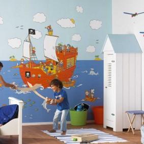 papier peint à l'intérieur de la chambre des enfants