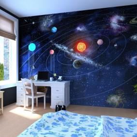 papier peint dans une chambre d'enfants idées d'intérieur