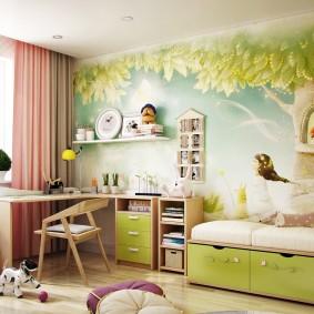 papier peint dans les idées d'intérieur de la chambre des enfants