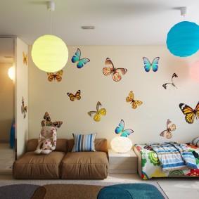 papier peint dans la chambre des enfants