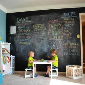 papier peint dans la chambre des enfants idées photo