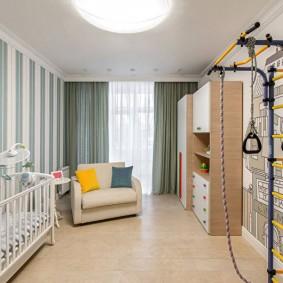 papier peint dans la chambre des enfants types de conception