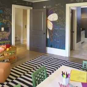 papier peint dans la conception de la chambre des enfants