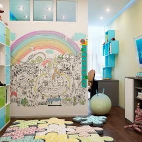 papier peint dans la conception photo de la chambre des enfants