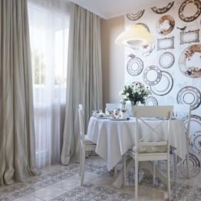 papier peint pour la cuisine à l'intérieur