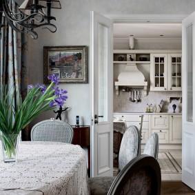 Papier peint de style provençal pour la cuisine