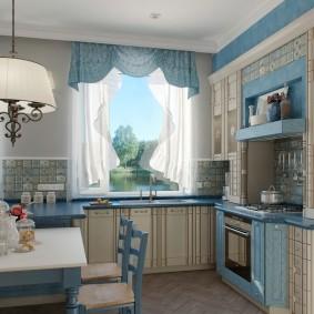 Papier peint de style provençal pour la décoration de cuisine