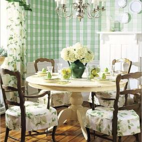 papier peint style provence pour photo de décor de cuisine