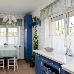 Papier peint de style Provence pour la décoration photo de cuisine