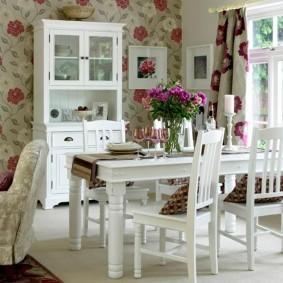 papier peint de style provençal pour des idées de décoration de cuisine