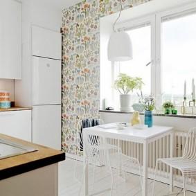 Papier peint style Provence pour intérieur de cuisine