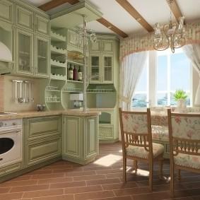 papier peint style provence pour photo d'intérieur de cuisine