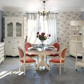 Papier peint de style provençal pour photo d'intérieur de cuisine
