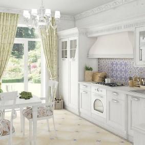 papier peint de style provençal pour des idées d'intérieur de cuisine
