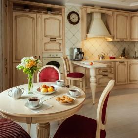 papier peint de style provençal pour intérieur d'idées de cuisine