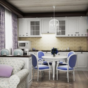 papier peint style provence pour la décoration de cuisine