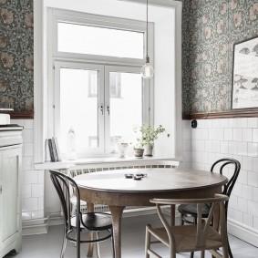 papier peint style provence pour la décoration photo de cuisine