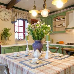 papier peint de style provençal pour des idées de cuisine