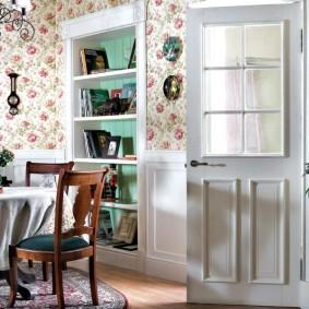 papier peint de style provence pour les options de cuisine