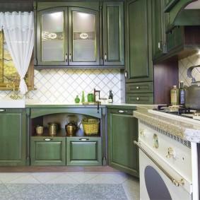 papier peint style provence pour les options de photo de cuisine