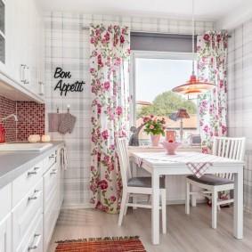 papier peint de style provence pour les options de photo de cuisine