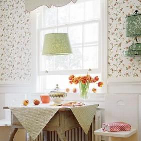 papier peint dans le style provençal pour les types de photos de cuisine