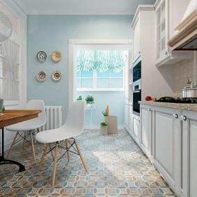 Papier peint de style provençal pour les photos de cuisine