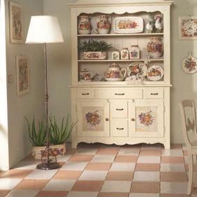papier peint de style provence pour les types de conception de cuisine