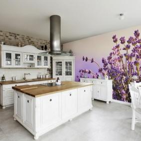 Papiers peints de style provençal pour un aperçu de la cuisine