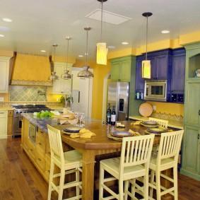 papier peint de style provence pour la conception de la cuisine